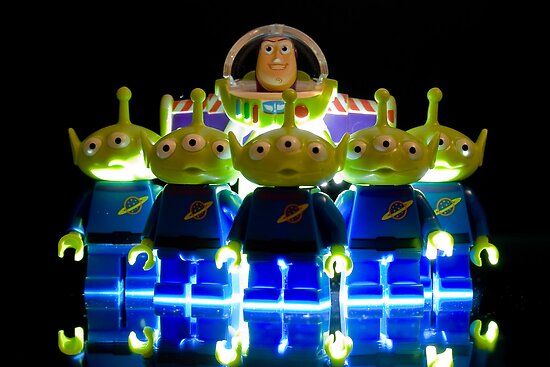 Lego Buzz with Alien friends by Kevin  Poulton - aka 'Sad Old Biker'