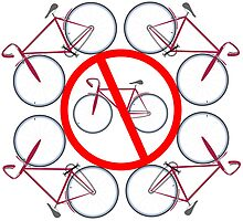 Bicycles not allowed here by Laschon Robert Paul