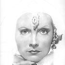 Greta Garbo WIP by Karen Townsend