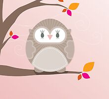 Sweet owl in a tree 5 by Kat Massard