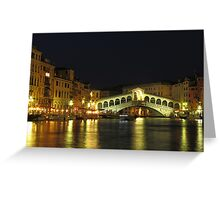 Rialto Bridge in Venice Greeting Card