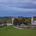 Borthwick Castle and Church by Lynne Morris