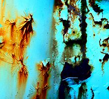 Rusty Cracked Paint by Virginia Daniels