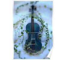 il violino blu con edera © 2010 patricia vannucci Poster
