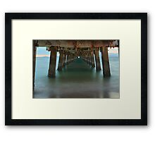 Under The Boardwalk Framed Print