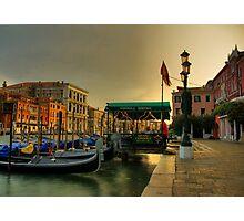 Gondola Service Photographic Print