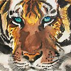 Wild-Eyed Tiger Land by EmilyThomasArt