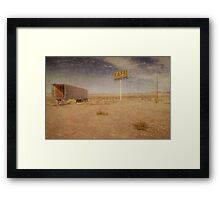 Cafe Straight Ahead Framed Print