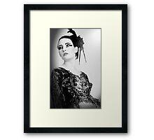Black and White Swan Framed Print