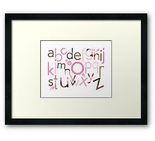 TYPOGRAPHY :: trendy alphabet 3 Framed Print