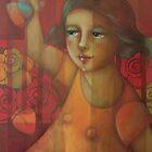 Little girl in the garden by marostega