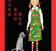 "'Rover and Meg"" , Little girl and her dog by Mary Taylor"