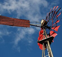 'Old Red Windmill', Nannup, Western Australia by BigAndRed