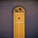 Blue and cream door in Battery Point, Hobart by Elana Bailey