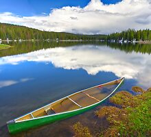 Waterlogged Canoe, Lake Irwin, Crested Butte, Colorado by Ryan Wright