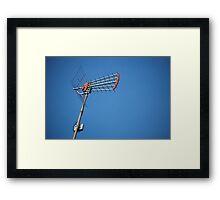 tv antenna Framed Print