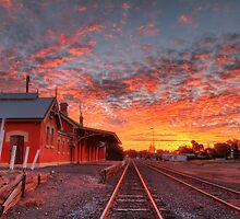 Sunset at the Station - Cobar by Mark Ingram Photography