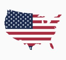 USA map flag, 4th of July, Independence Day by Adrian Bud