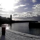 Winter evening in Porthleven by Christine Hosey