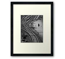 Train tracks, Bangkok Framed Print
