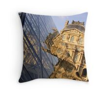 'Musee du Louvre' Throw Pillow