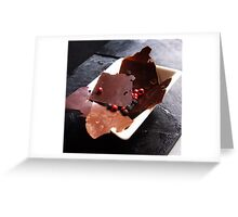 Peppery chocolate shards Greeting Card