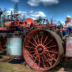 steam tractor hdr by Jeannie Peters