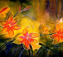 Drawing Day...B's Daylilies by ©Janis Zroback