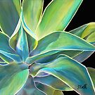 """Foregone Conclusion,"" Pastel on Ampersand Pastelbord, 10"" x 8"" - Agave Plant from the Arizona Sonoran Desert  by Laura Bell"