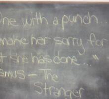 the Stranger- Camus by Misunderstood24