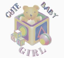 Cute Baby Girl - Kids Tshirt by judygal