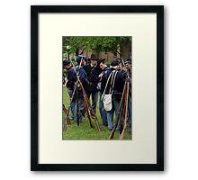 Union Infantry Framed Print