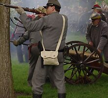 Confederate Firing on Union Forces by James Formo