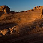 Delicate Arch at Sunset from Distance by Rick Ferens