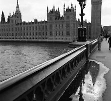 Westminster bridge reflection by Jen49