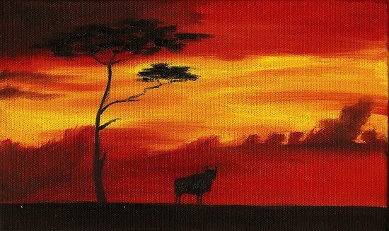 buffalo sunset by Inese