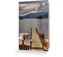Motorboats for hire Greeting Card