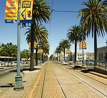 Tram tracks San Francisco by Margaret Whyte