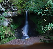 Roslin Glen Waterfall by Vic Sharp