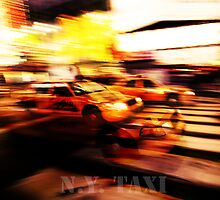 New York city taxi by Denis Charbonnier