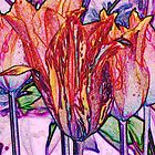 Abstract tulips by Barry Hobbs