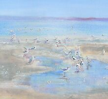 Gulls at Play by Kay Cunningham