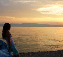 Ohrid sunset by Natasha D