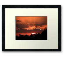 Copper Sunset Framed Print