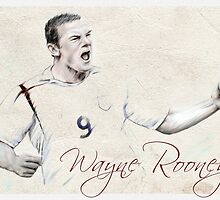 Wayne Rooney portrait by wu-wei