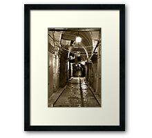 Light in Jerusalem - When Night Enveloped the Old City  Framed Print