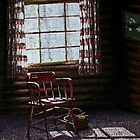 Cabin Window by Janet Rawlings