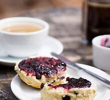 Coffee And Scone by Lynne Morris
