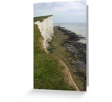 Beacon of the Coastal Headland, Beachy Head, England 2010 Greeting Card