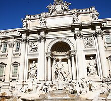 Bright Day at the Trevi Fountain - Rome Italy by tamarakenyon